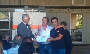 Consegna attestato a Governatore Misericordia Cassiible, Franco Listo (Foto by Corrado Blanco)