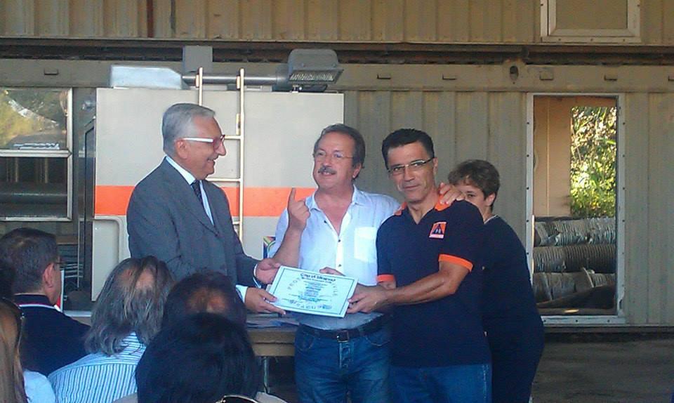 Consegna attestato a presidente Misericordia, Franco Listo (Foto by Corrado Blanco)