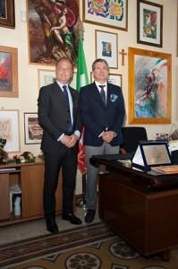 Il Sindaco di Noto Corrado Bonfanti e il Sindaco di Genzano di Roma Flavio Gabbarini