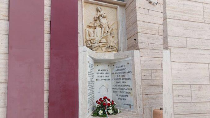 Celebrato a Cassibile l'anniversario della firma dell'Armistizio